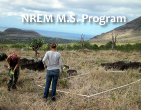Dryland research by NREM grad students