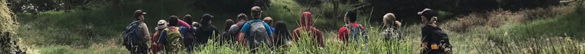 High school students exploring the Hakalau Forest National Wildlife Refuge.