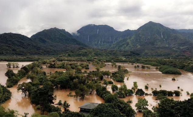 Flooded Agricultural lands in Hanalei