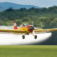 Aerial application of pesticides.