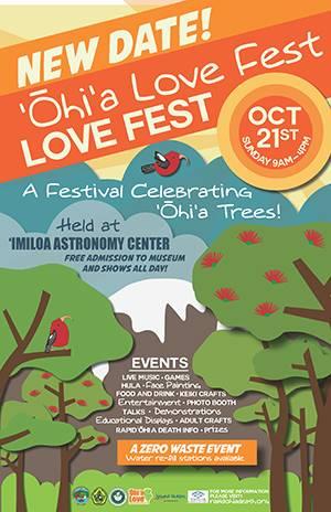 Ohia Love Fest Poster