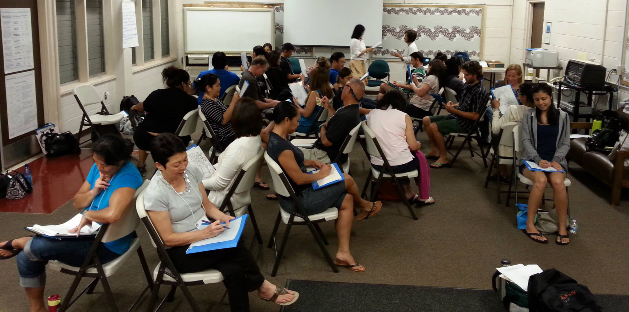 Mindfulness Training with Hawaii K-12 Teachers in Honolulu, Hawaii