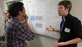 Daniel Laspisa explaining poster