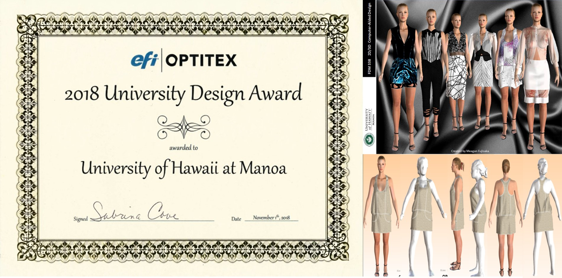 Optitex: University Design Award at the 2018 ITAA Conference
