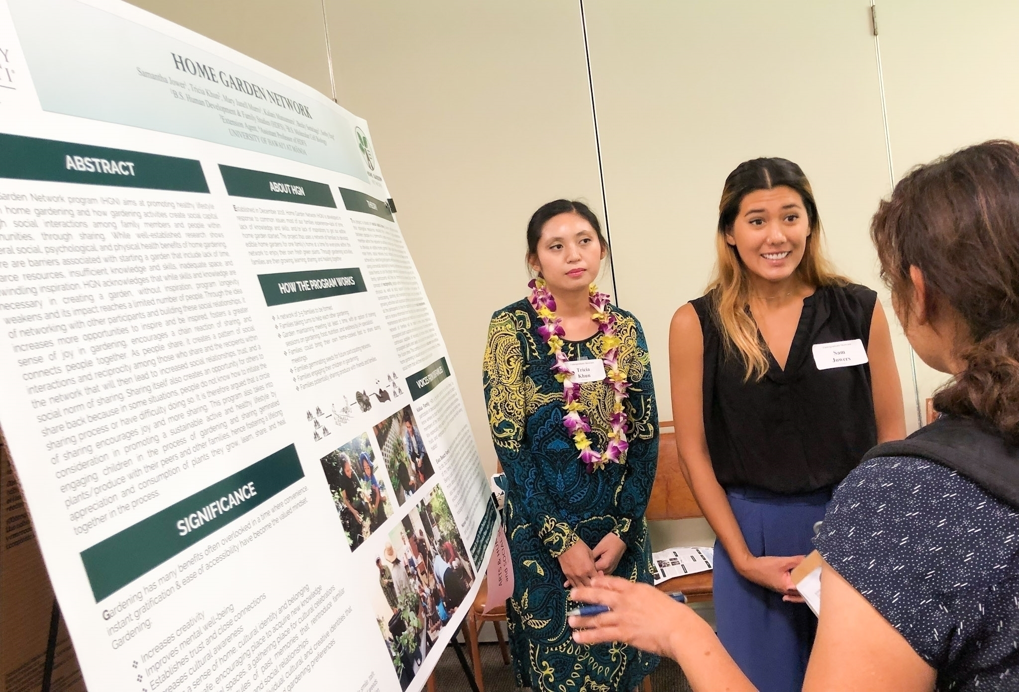 HDFS students presenting Home Garden Project